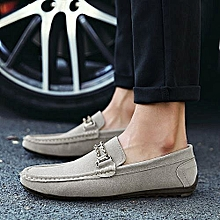 fashion men casual suede loafers 2017 black solid leather driving moccasins gommino slip on men formal loafers shoes male dress loafers-grey