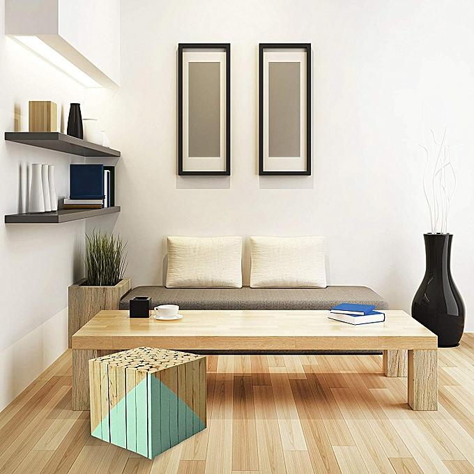 generic tabouret carr bois vert d 39 eau 30 x 30 x 30 cm. Black Bedroom Furniture Sets. Home Design Ideas