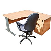 bureau de travail + chaise - bois