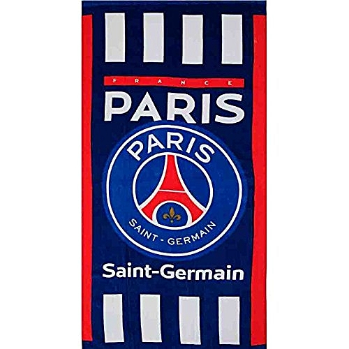 foot grande serviette de bain paris saint germain 100 coton 70x140 cm au s n gal prix. Black Bedroom Furniture Sets. Home Design Ideas