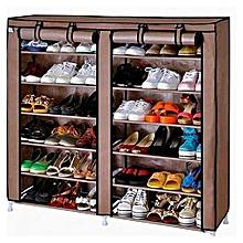 meuble de rangement de chaussures - 12 étagères - marron