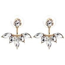 1 Paire élégant vert cristal Strass Ear Drop Dangle Stud Long Boucles D/'oreilles 134