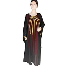 5602e4d67d6 Robe Tunique avec Foulard et Dessous - Multi Chiffon - Noir