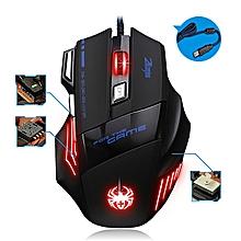 souris gamer - t80 rétro-éclairage 7200 dpi 7 bouton souris gamer gaming - multi couleur led optique usb filaire gaming mouse pour pro gamer