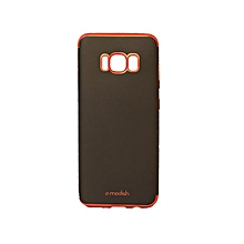coque - fashion ultra slim noire - rouge / samsung galaxy s8 plus