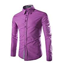 chemises slim fit - mauve
