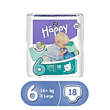 couches bella happy junior extra t6 (+16 kg), 18 pièces