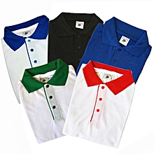 pack 5 polos - manches courtes - multicolore