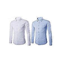 pack de 2 chemises - blanc et bleu ciel