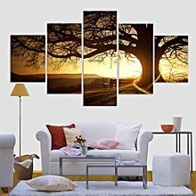 tableau arbre marron - 5 pièces -