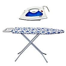 pack table de repassage - 1 mètre 10 + fer a repasser electrique - condere - 1800 w - blanc
