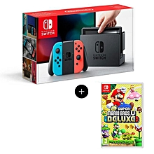 console nintendo switch + jeu new super mario bros u deluxe