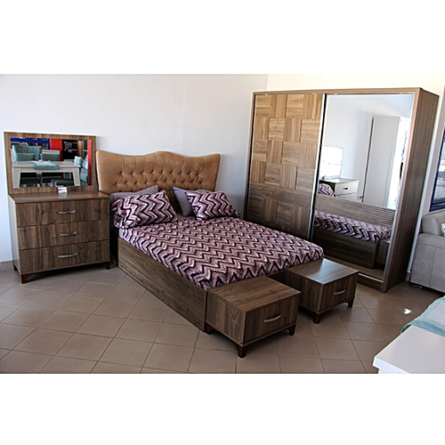 Chambre à coucher serra marron