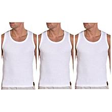 pack de 3 sous-vêtements débardeurs en coton pour homme - blanc