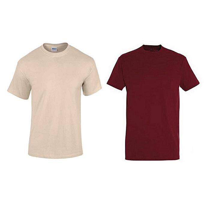 Offre spéciale   2 T-Shirts Homme en Coton - Col Rond - Manches Courtes 79d2783c053a