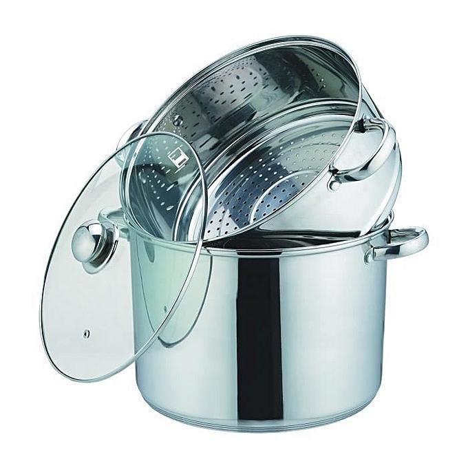 white label couscoussier en inox 28 cm au s n gal prix. Black Bedroom Furniture Sets. Home Design Ideas