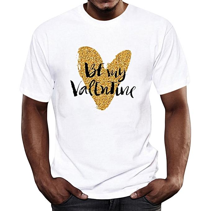 White Label T-shirt Cool Fashion - 100% Coton - Design Cœur Gravé Be ... ac7e9e7c61a