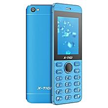 """x-tigi q7 feature phone- 2.4 """"tous en metal - ultra mince - double sim - bleu"""