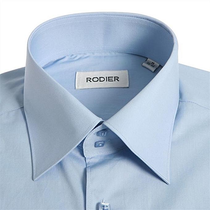 71feee2ac4019 Chemises pour homme Rodier 100% coton manche longue - Bleu