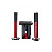 home cinema - woofer avec bluetooth - noir rouge