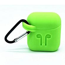 etui airpods case  silicone - vert