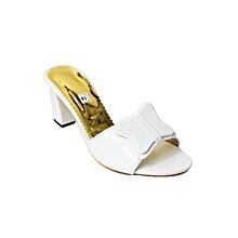 chaussure talons - blanc