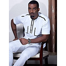Mode Tenue Africaine Homme Chemise Boubou Wax Homme Jumia