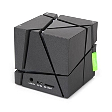 mini portable cube led stereo wireless bluetooth speaker for smartphone tabletbk