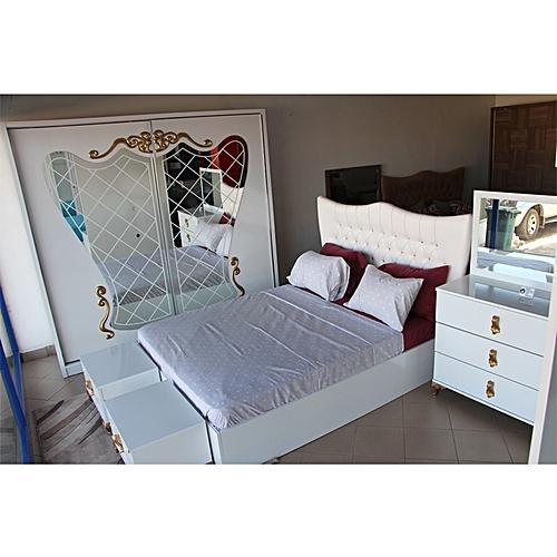 Photo Chambre A Coucher white label chambre à coucher serra - blanc - prix pas cher | jumia sn