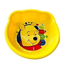 """assiette pour bébé """"winnie l'ourson"""" - jaune"""