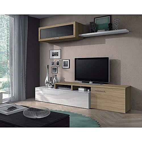 White label meuble tv nexus contemporain blanc et ch ne 200 cm prix pas cher jumia sn - Meuble tv 200 cm ...