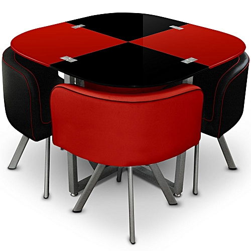 Generic Table à Manger - 4 Places - Rouge Noir - Prix pas cher ...