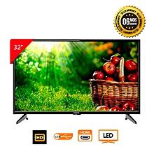 tv led 32 pouces - hd 1366x766 pixels - noir - garantie 6 mois