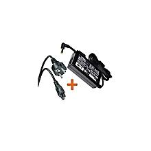acer chargeur pour pc acer 19v – 3.42a + câble de raccordement tripolaire - noir - garantie 1 mois