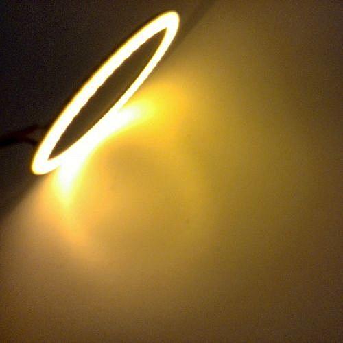 2 Circulaire Pièces Lampe 80mm Cob Led Jaune Pour Voiture 8PNwZ0OnkX