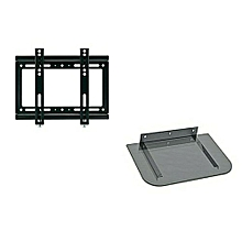 "support mural tv led ( 14"" - 42"" ) - plus support dvd-gris"