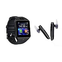pack dz09 bluetooth smart watch + oreillette samsung p07 -  noir