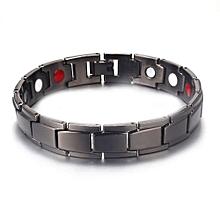 gold-plated healthy magnet bracelet men jewelry energy gift-black