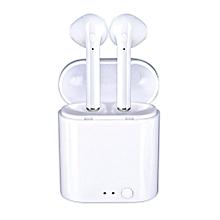 écouteurs bluetooth universel - i7 mini- blanc