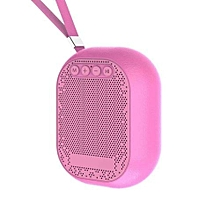 mini bluetooth speaker portable bluetooth fm radio speaker small size pink tf card