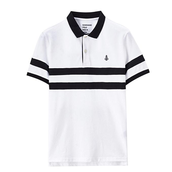 White Label Polo Homme - Manches Courtes -100% coton - Blanc - Prix ... c91c4d2b9a1