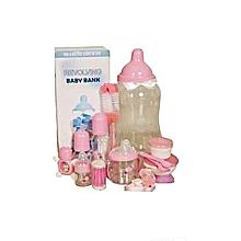 ensemble biberon bébé - 6 pièces - rose