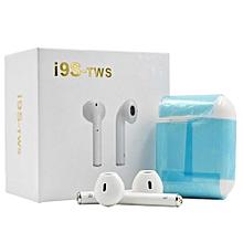 ecouteurs stéréo sans fil -  bluetooth intra-auriculaires - pour portable iphone et android + étui