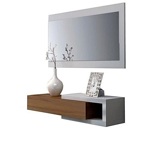 white label noon console d 39 entr e style contemporain blanc l 95 cm acheter en ligne jumia. Black Bedroom Furniture Sets. Home Design Ideas