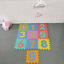 tapis puzzle enfant en mousse multi-couleur