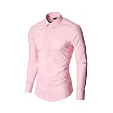chemises slim fit - rose clair