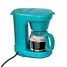 machine à café 1 litre - 650w - vert turquoise