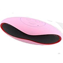 haut-parleur de football sans fil portable mini haut-parleurs bluetooth usb avec prise en charge de carte tf pour téléphone ordinateur (rose)