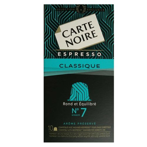 carte noire carte noire capsules x 10 compatibles machine nespresso acheter en ligne jumia. Black Bedroom Furniture Sets. Home Design Ideas