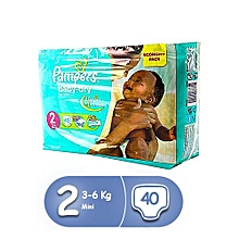 couches bébé baby dry mini - taille 2 ( 3 - 6 kg ) - 40 couches